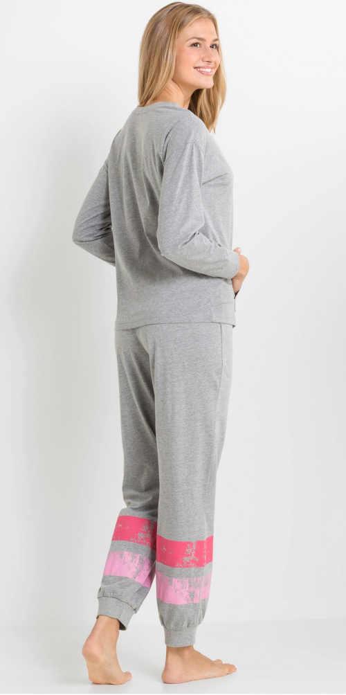Długa piżama damska w paski