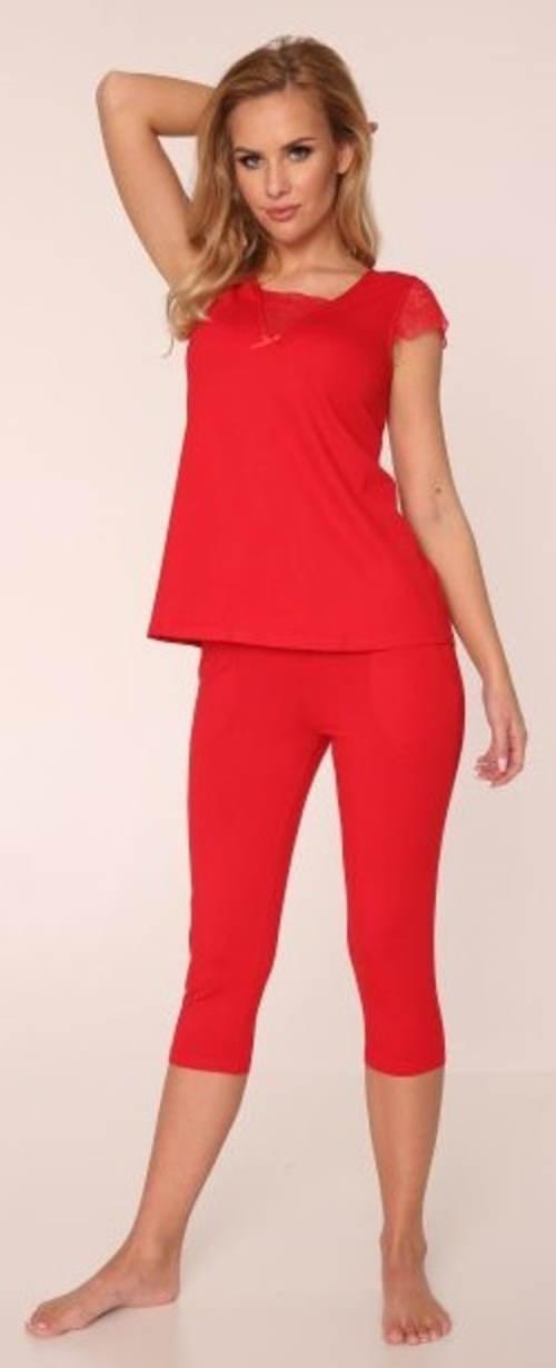 Jednokolorowa damska piżama capri