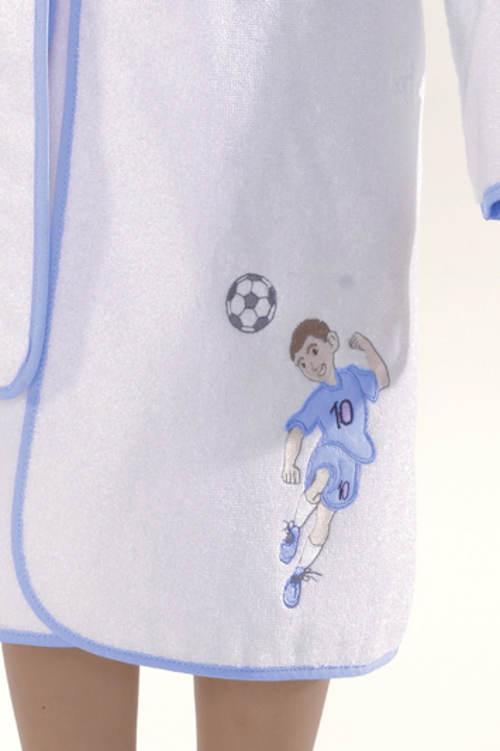 Szlafrok chłopięcy z haftem piłkarza