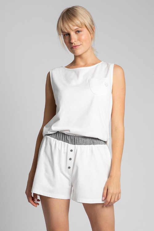 Szorty od piżamy wykonane z przyjemnego bawełnianego materiału