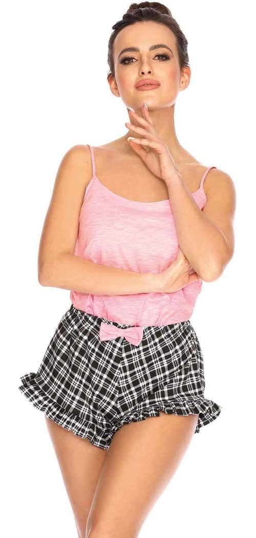 Urocza letnia piżama z falbanami na szortach