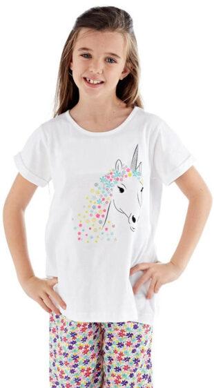 Bawełniana piżama dziewczęca z jednorożcem