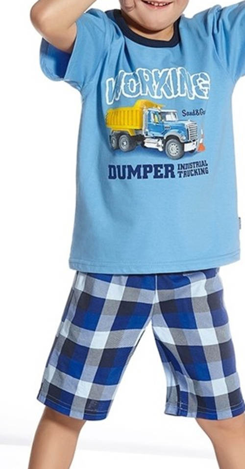 Krótka piżama z samochodem
