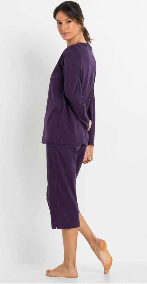 Piżama damska ciemnofioletowa