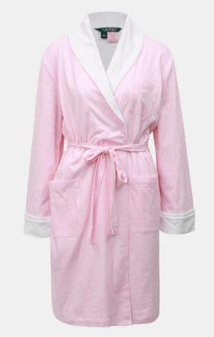 Różowy szlafrok damski marki Ralph Lauren
