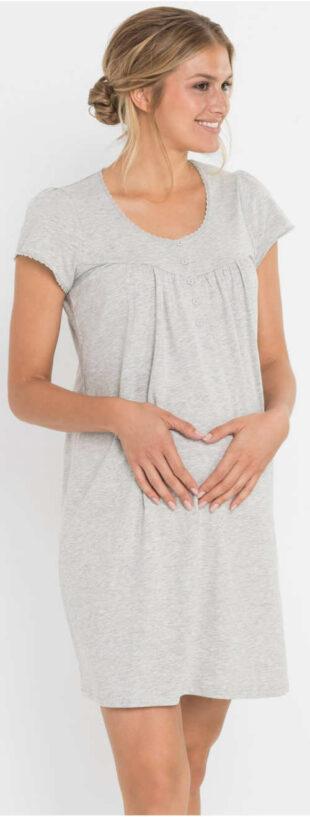 Wygodna koszula nocna ciążowa zapinana na guziki