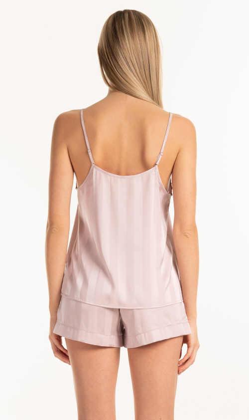 Modny top piżamowy różowy