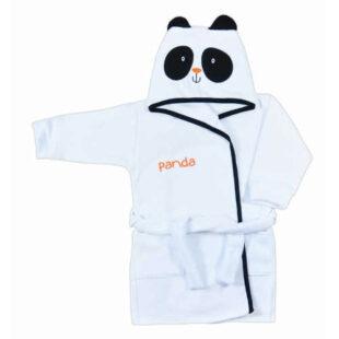 Piękny szlafrok z motywem pandy dla dziewczynek i chłopców