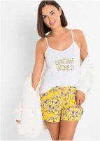 Bawełniana krótka piżama w uwodzicielski wzór