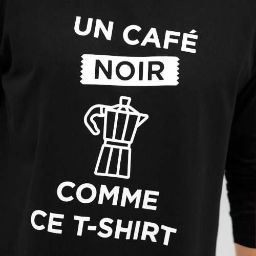 Czarno-biała koszulka piżamowa z napisami
