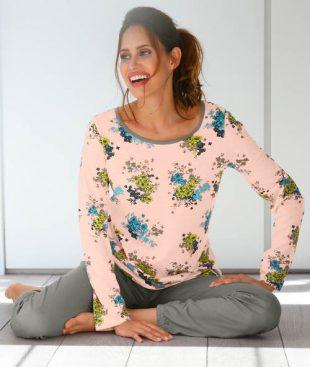 Damska piżama w kwiaty dla plus size
