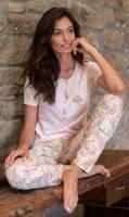 Luksusowa piżama damska z motywem kwiatowym