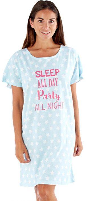 Wygodna koszula nocna z okrągłym dekoltem
