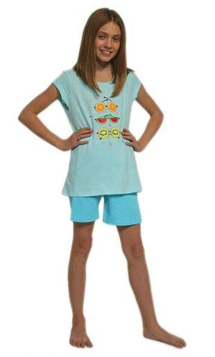 Dziewczęca nowoczesna piżama z wysokiej jakości bawełny z nadrukiem z przodu